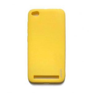 Матовый силиконовый TPU чехол для Xiaomi Redmi 4a – Желтый