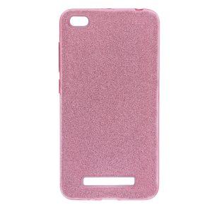 Розовый силиконовый (TPU+PC) чехол (накладка) Shine с блестками для Xiaomi Redmi 4a (Pink)