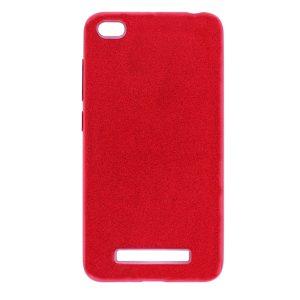 Cиликоновый (TPU+PC) чехол Shine с блестками для Xiaomi Redmi 4a (Красный)