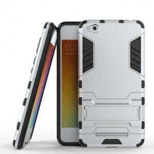 Ударопрочный чехол Transformer с подставкой для Xiaomi Redmi 4a (Silver)