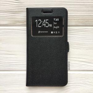 Черный чехол-книжка (экокожа+TPU) с функцией подставки для Xiaomi Redmi 4х (Black)