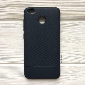 Темно-синий силиконовый (TPU) чехол (накладка) Carbon для Xiaomi Redmi 4х (Navy Blue)