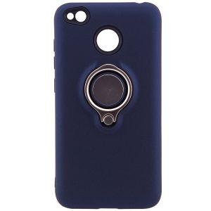 (TPU+PC) чехол (бампер) Deen с кольцом и креплением под магнитный держатель для Xiaomi Redmi 4х (Blue)