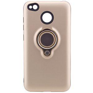 (TPU+PC) чехол (бампер) Deen с кольцом и креплением под магнитный держатель для Xiaomi Redmi 4х (Gold)