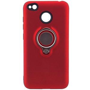 Красный (TPU+PC) чехол (бампер) Deen с кольцом и креплением под магнитный держатель для Xiaomi Redmi 4х (Red)