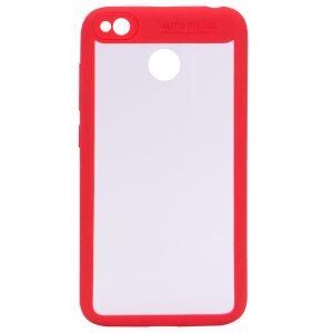 Прозрачный силиконовый (TPU+PC) чехол (накладка) Focus с красным ободком для Xiaomi Redmi 4х (Red)