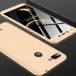 Золотый матовый пластиковый чехол (накладка) GKK 360 для Xiaomi Redmi 4х (Gold)