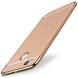 Золотый матовый пластиковый чехол (накладка) Joint Series для Xiaomi Redmi 4х (Gold)