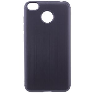 Cиликоновый (TPU) чехол Metal  для Xiaomi Redmi 4х (Black)