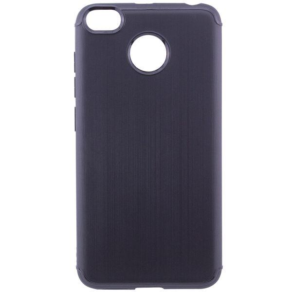 Черный силиконовый (TPU) чехол (накладка) Metal для Xiaomi Redmi 4х (Black)