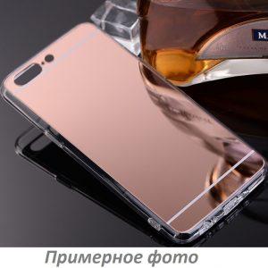 Розовый силиконовый (TPU) чехол (накладка) с зеркальной вставкой для Xiaomi Redmi 4х (Rose Gold)