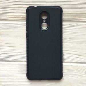 Синий силиконовый (TPU) чехол (накладка) Weave для Xiaomi Redmi 5 Plus (Navy Blue)