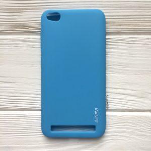 Матовый силиконовый TPU чехол на Xiaomi Redmi 5A (Blue)