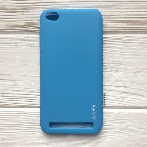 Матовый силиконовый TPU чехол на Xiaomi Redmi 5A / Redmi Go (Голубой)