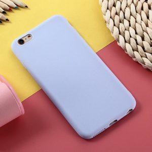 Матовый силиконовый (TPU) чехол для Huawei Y5 2018 / Honor 7A (Светло-голубой)