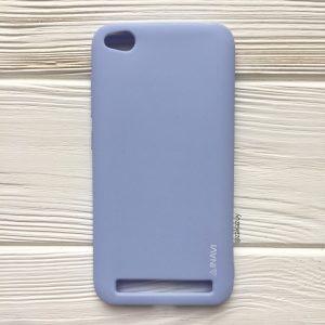 Матовый силиконовый TPU чехол на Xiaomi Redmi 5A (Light Blue)