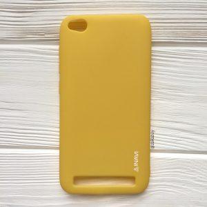 Матовый силиконовый TPU чехол на Xiaomi Redmi 5A (Yellow)