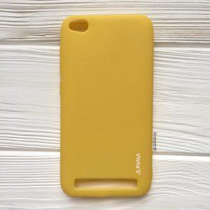 Матовый силиконовый TPU чехол на Xiaomi Redmi 5A / Redmi Go (Желтый)