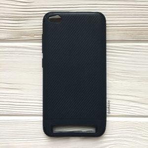 Cиликоновый (TPU) чехол Carbon  для Xiaomi Redmi 5A (Синий)