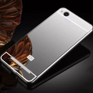 Алюминиевый бампер с акриловой вставкой и зеркальныйм покрытием для Xiaomi Redmi 5A / Redmi Go (Silver)