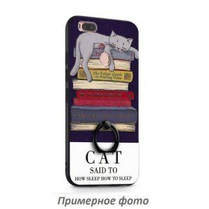 Тематический чехол с кольцом и принтом с котом для Xiaomi Redmi 5A / Redmi Go (Cat)