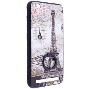 Тематический чехол с кольцом и принтом с Парижем для Xiaomi Redmi 5A (Paris)
