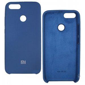 Матовый чехол Silicone Case с микрофиброй для Xiaomi Mi 5x / Mi A1 (Голубой)