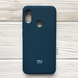 Изумрудный оригинальный матовый силиконовый (TPU) чехол Silicone Cover с микрофиброй для Huawei P Smart Plus / Nova 3i (Dark Green)