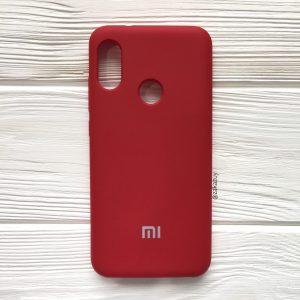 Оригинальный чехол Silicone Case с микрофиброй для Xiaomi Redmi Note 6 / 6 Pro (Бордовый)