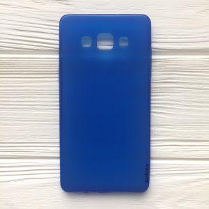 Cиний силиконовый (TPU) чехол (накладка) для Samsung А500 Galaxy А5 (2015) (Blue)