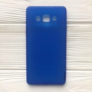 Силиконовый (TPU) чехол (накладка) для Samsung Galaxy A5 2015 (A500) (Blue)