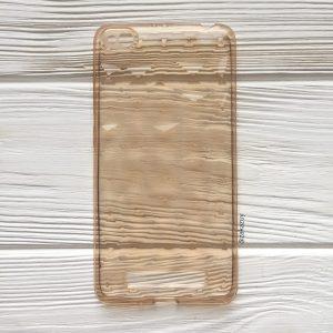 Прозрачный силиконовый (TPU) чехол (накладка) Diamond для Xiaomi Redmi 4A (Gold)