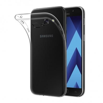 Прозрачный силиконовый (TPU) чехол (накладка) для Samsung Galaxy A3 2017 (A320) (Clear)
