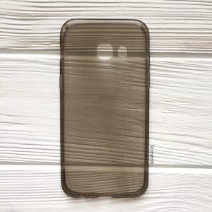 Прозрачный силиконовый (TPU) чехол (накладка) для Samsung Galaxy A3 2017 (A320) (Grey)