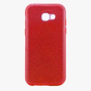 Cиликоновый (TPU+PC) чехол Shine с блестками для Samsung A320 Galaxy A3 2017 (Красный)