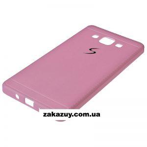 Розовый силиконовый (TPU) чехол (накладка) для Samsung A500 Galaxy A5 2015 (Pink)