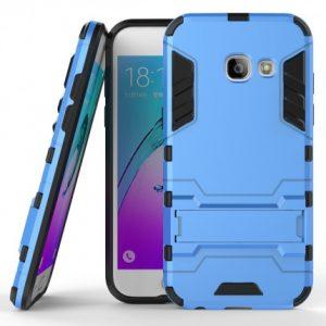 Синий противоударный (ударопрочный) чехол (бампер) TPU+PC Transformer с подставкой для Samsung A520 Galaxy A5 2017 (Blue)
