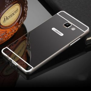 Алюминиевый чехол (бампер) с акриловой вставкой и зеркальным покрытием для Samsung Galaxy A7 2016 (A710) (Grey)