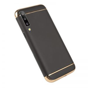 Матовый пластиковый чехол Joint Series  для Samsung A750 Galaxy A7 2018 (Black)