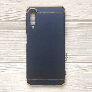 Матовый пластиковый чехол Joint Series для Samsung A750 Galaxy A7 2018 (Blue)