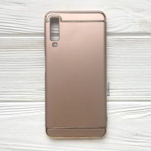 Золотой пластиковый чехол (накладка) Joint Series для Samsung A750 Galaxy A7 2018 (Gold)