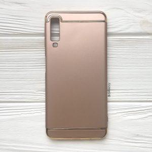 Матовый пластиковый чехол Joint Series для Samsung A750 Galaxy A7 2018 (Gold)