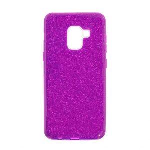 Силиконовый (TPU+PC) чехол Shine с блестками для Samsung A530 Galaxy A8 2018 (Фиолетовый)