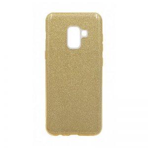Силиконовый (TPU+PC) чехол Shine с блестками для Samsung A530 Galaxy A8 (Золотой)
