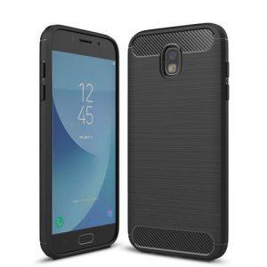 Черный cиликоновый чехол (накладка) Slim для Samsung J330 Galaxy J3 Pro / J3 2017 (Black)