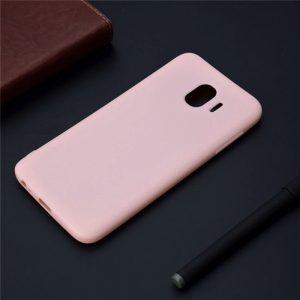 Розовый матовый cиликоновый чехол (накладка) для Samsung J400 Galaxy J4 (Pink)