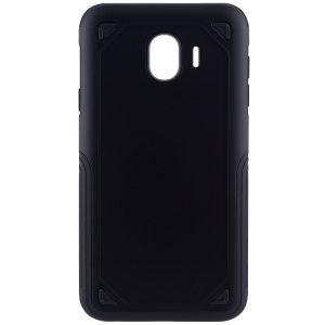 Черный (TPU+PC) противоударный (ударопрочный) чехол Deen Streamline для Samsung J400 Galaxy J4 (Black)