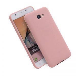 Розовый матовый cиликоновый чехол (накладка) для Samsung J415 Galaxy J4 Plus (Pink)