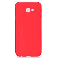 Матовый cиликоновый чехол (накладка) для Samsung J415 Galaxy J4 Plus (Red)