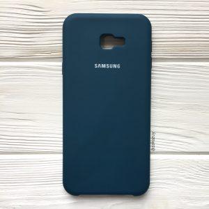 Изумрудный оригинальный матовый силиконовый (TPU) чехол Silicone Cover с микрофиброй для Samsung J415 Galaxy J4 Plus (2018) (Dark Green)